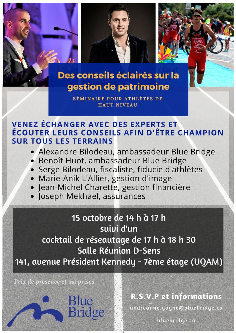 Invitation pour le séminaire athlètes de haut niveau